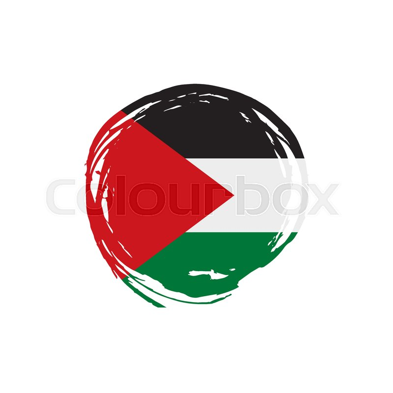 800x800 Palestine Flag, Vector Illustration On A White Background Stock
