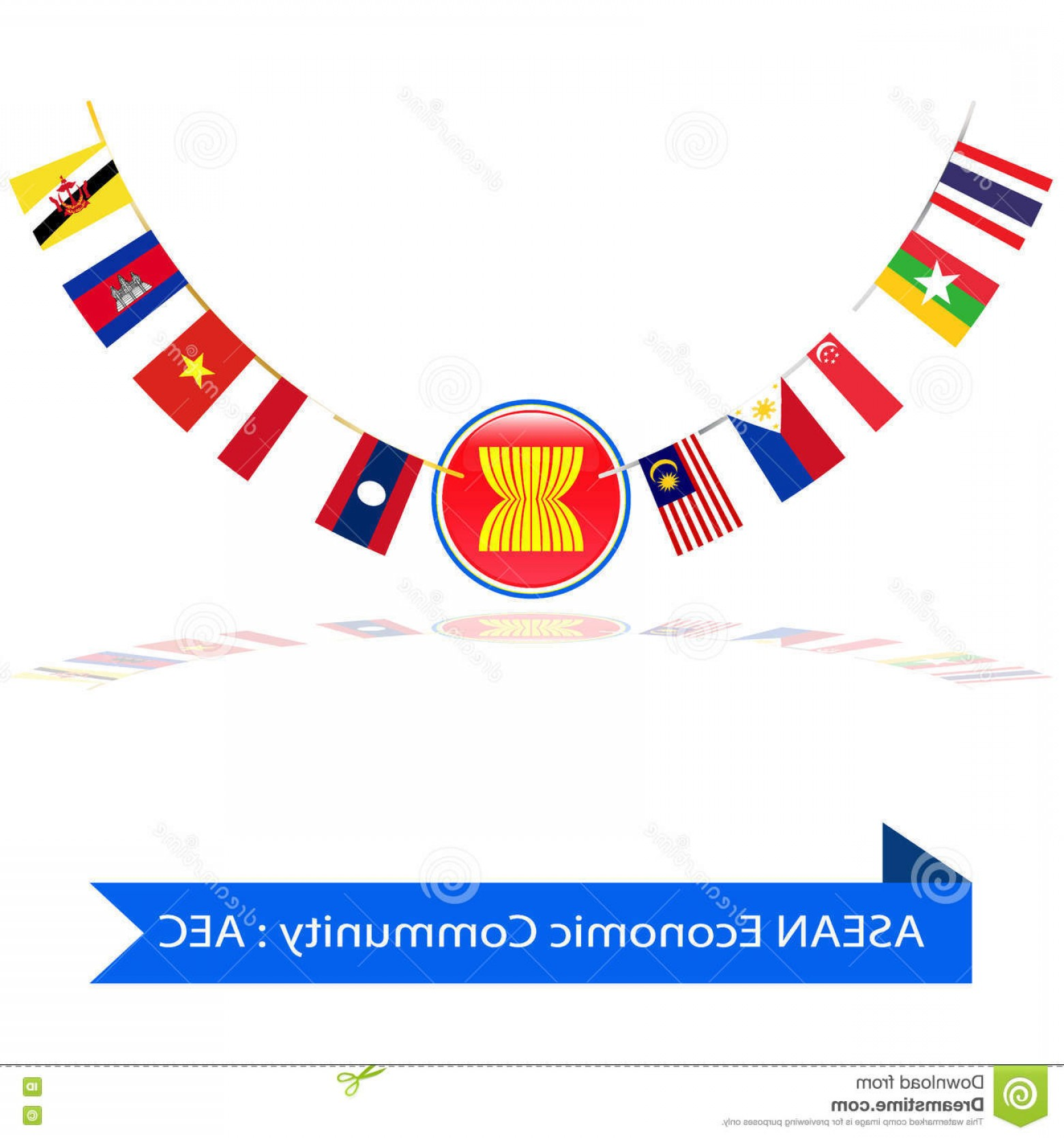 1560x1668 Stock Illustration Asean Economic Community Aec Flag Vector Eps