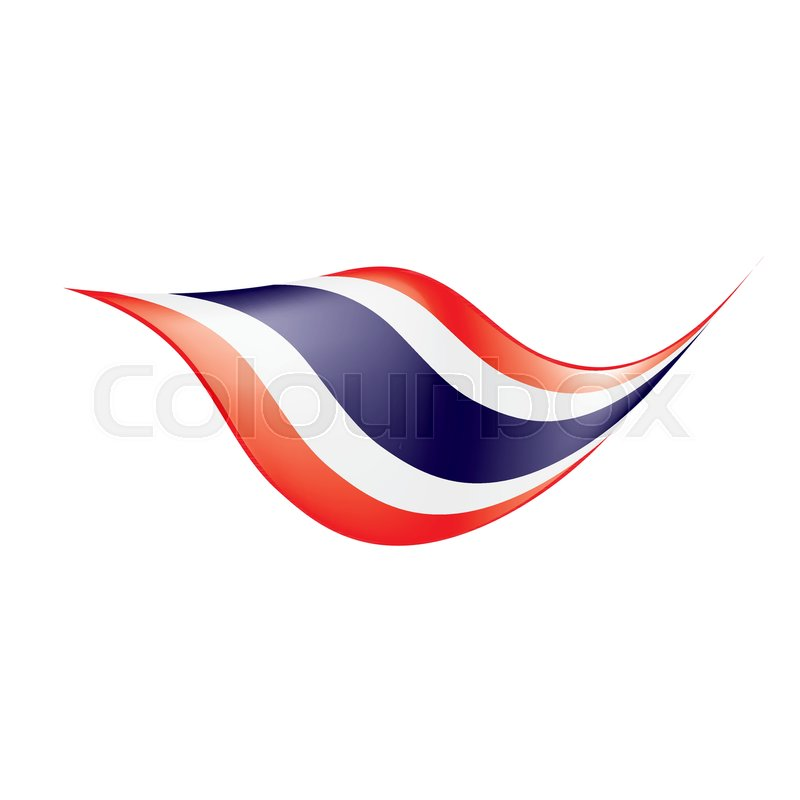 800x800 Thailand Flag, Vector Illustration On A White Background Stock