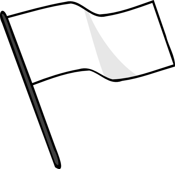 594x574 Waving White Flag Clip Art Free Vector 4vector