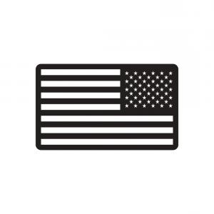 300x300 Best Free United States Flag Vector Black And White Images