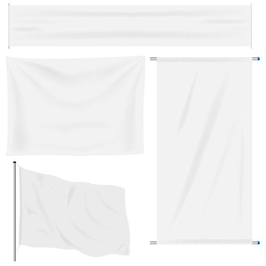 526x527 White Flag Design Vector Set 02 Free Download