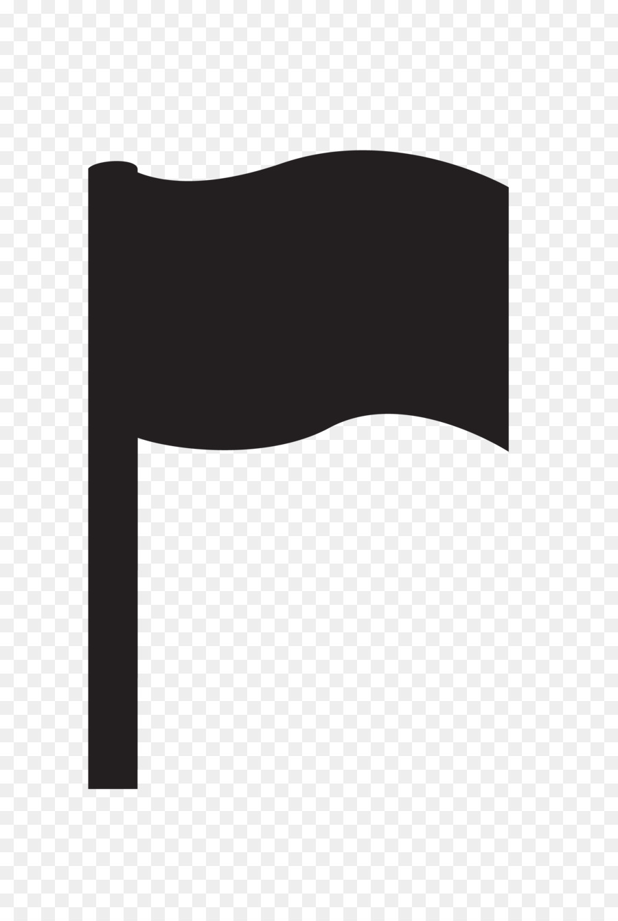 900x1340 Black And White Flag