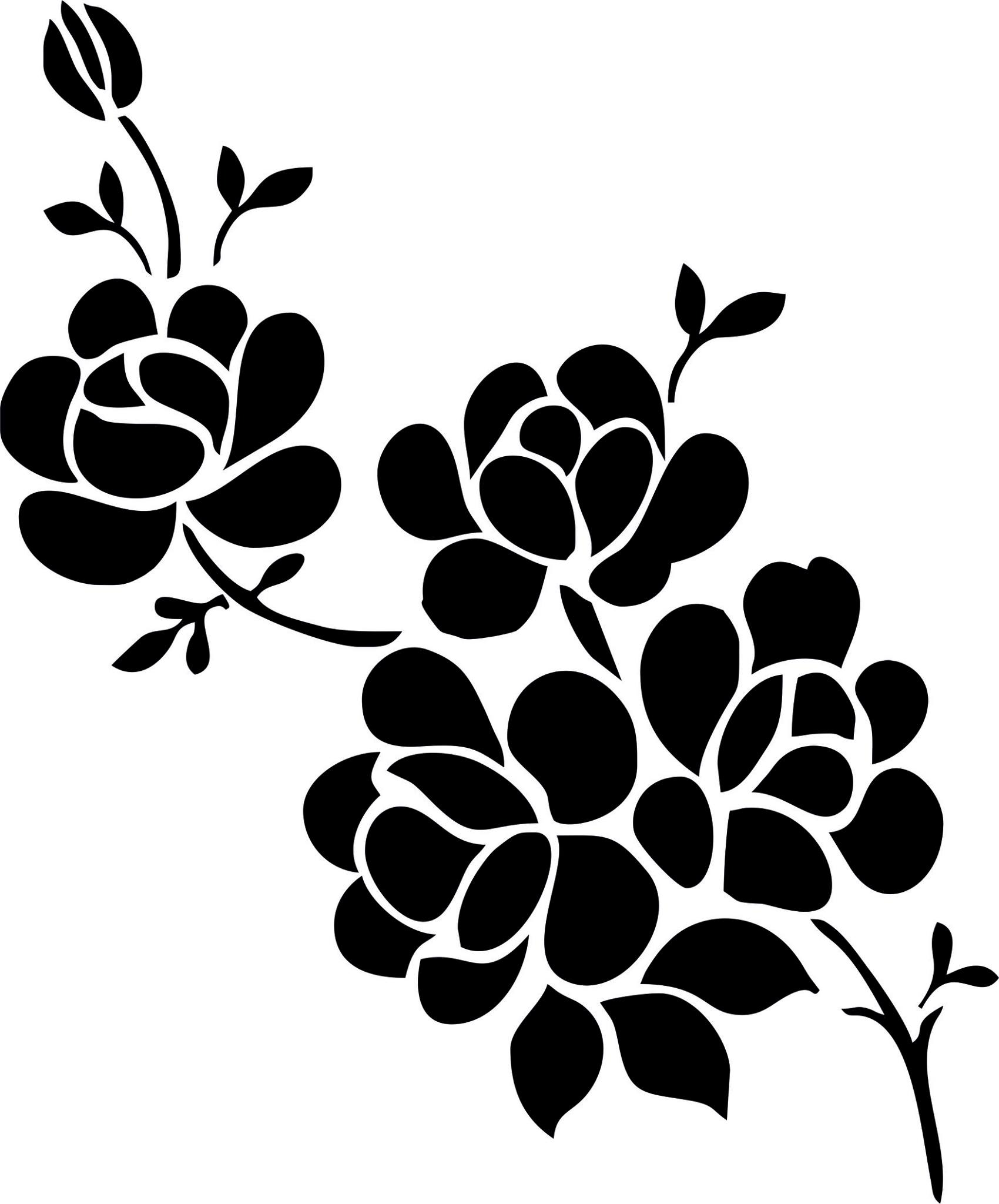 1700x2048 Elegant Black And White Flower Vector Art Jpg Image Free Download