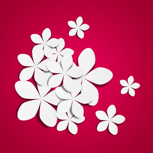 500x500 White Flower Purple Background Free Vector In Encapsulated