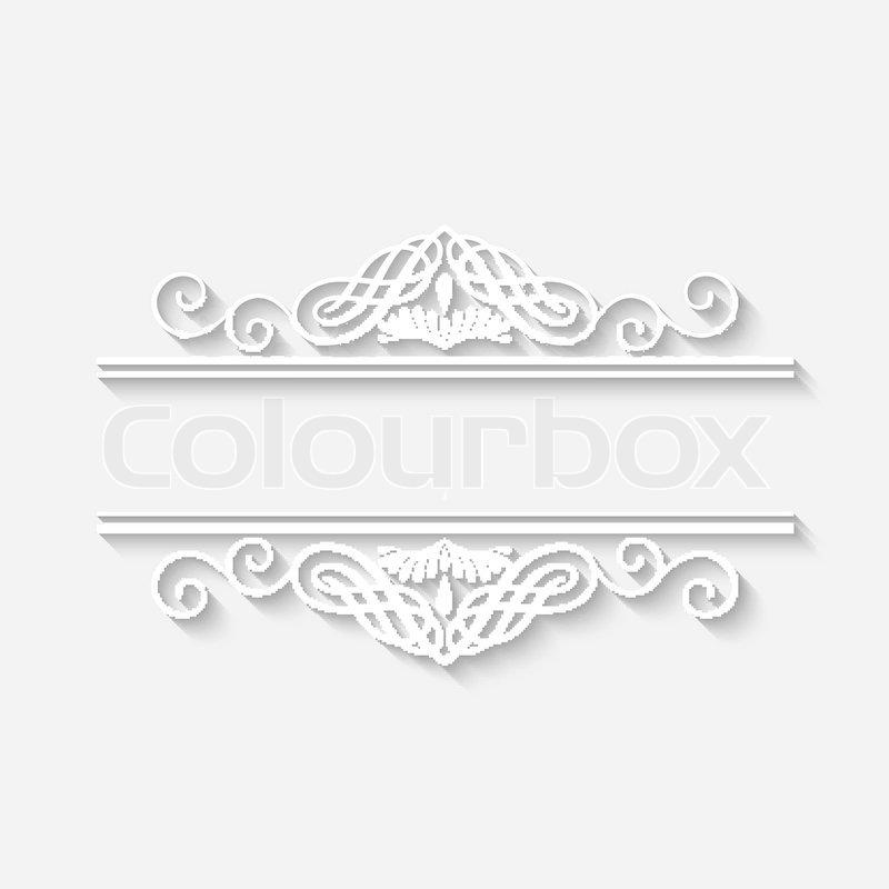 800x800 Frame Vector Vintage White Border With Long Shadows. Blank Circle