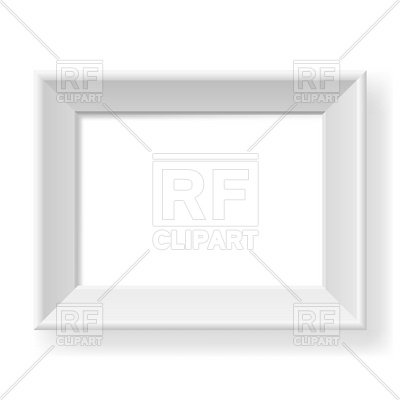 400x400 Realistic White Frame Vector Image Vector Artwork Of Borders And