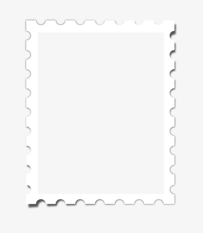 650x746 Silhouette Frame Border,white Photo Border, Frame Clipart, Hand
