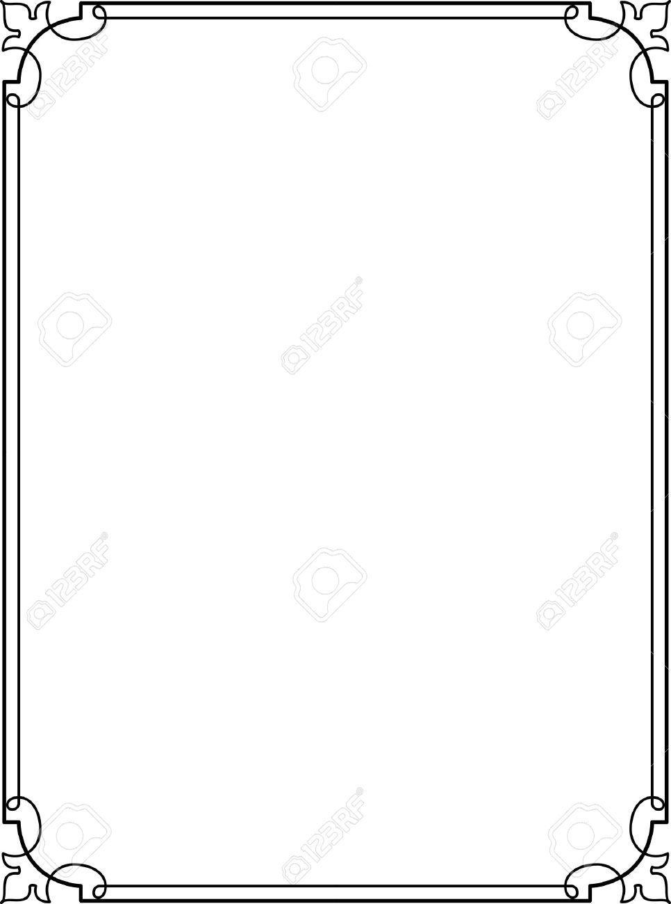 966x1300 Simple Lines, Border Frame, Vector Design In 2018 Designing