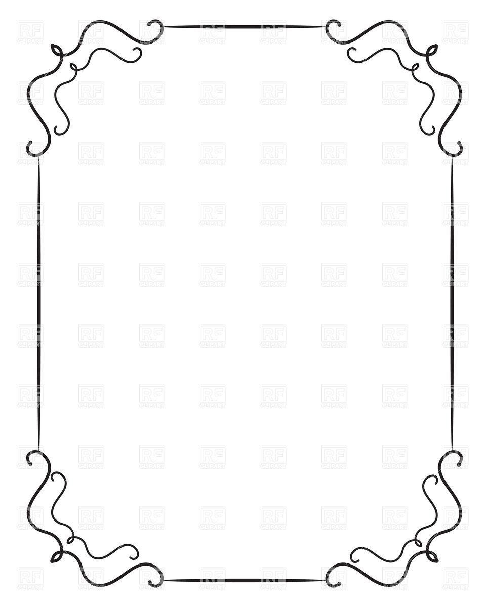 960x1200 Simple Vintage Vertical Frame Vector Image Vector Artwork Of