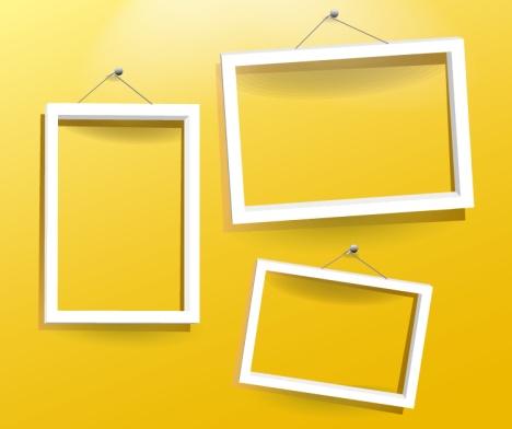 468x392 White Frames Vector