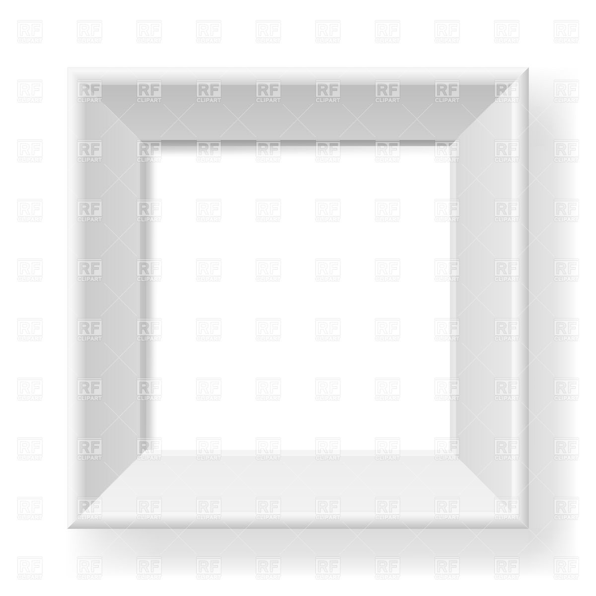 1200x1200 White Square Frame Vector Image Vector Artwork Of Borders And
