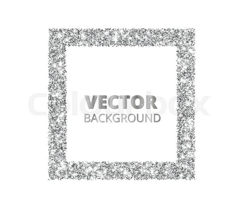 800x686 Festive Silver Sparkle Background. Glitter Border, Rectangle