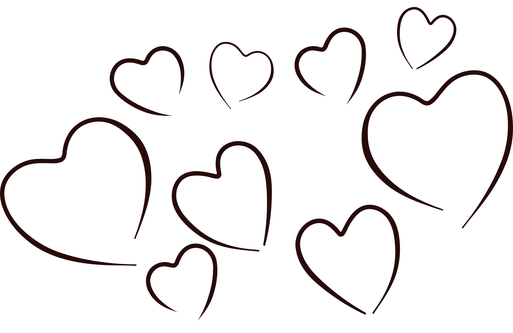 1969x1278 Collection Of Free Vector Hearts Black And White. Download On Ubisafe