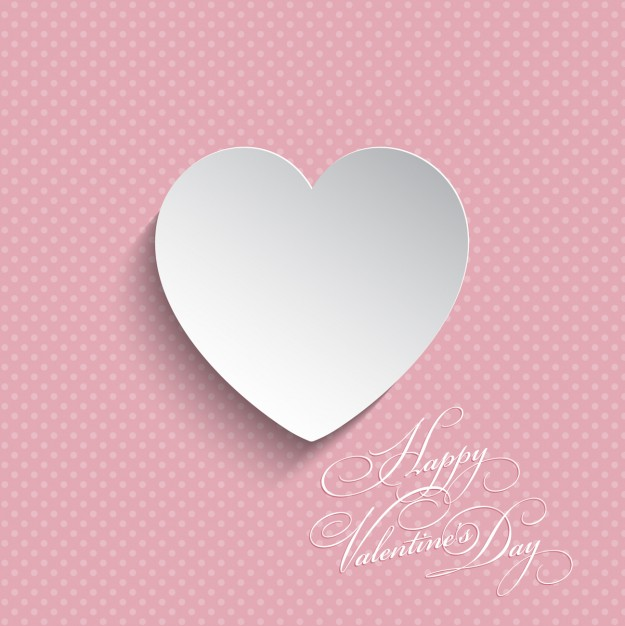 625x626 White Heart On A Pink Background Vector Free Download