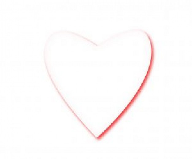 626x521 White Heart Vector Photo Free Download