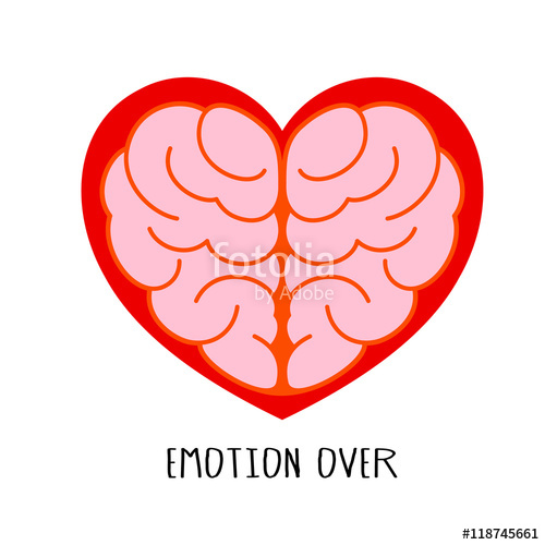 500x500 Brain Heart Shape. Emotion Over Concept. Use Brain And Heart