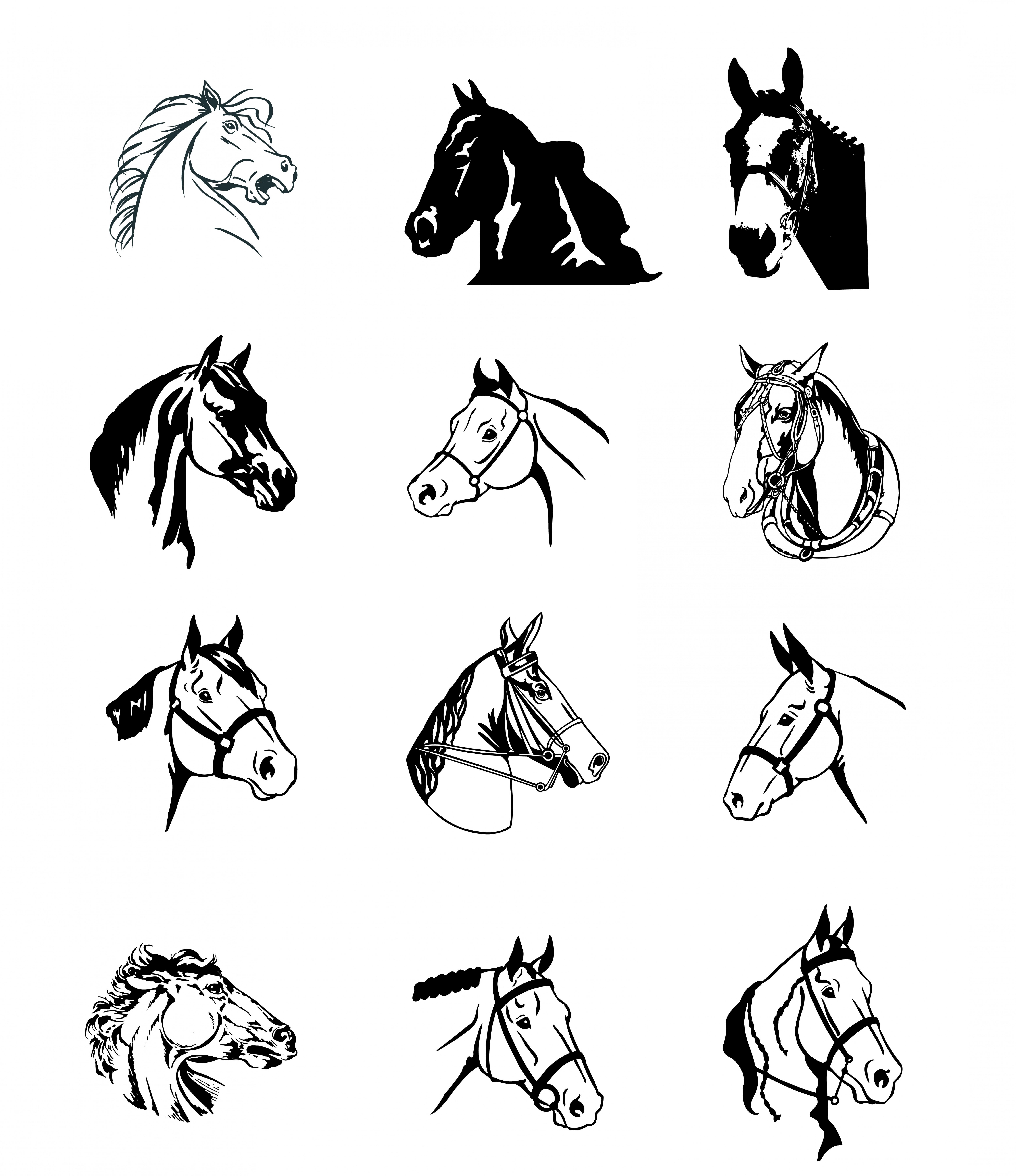 6583x7618 Horse Logo Vector Shopatcloth