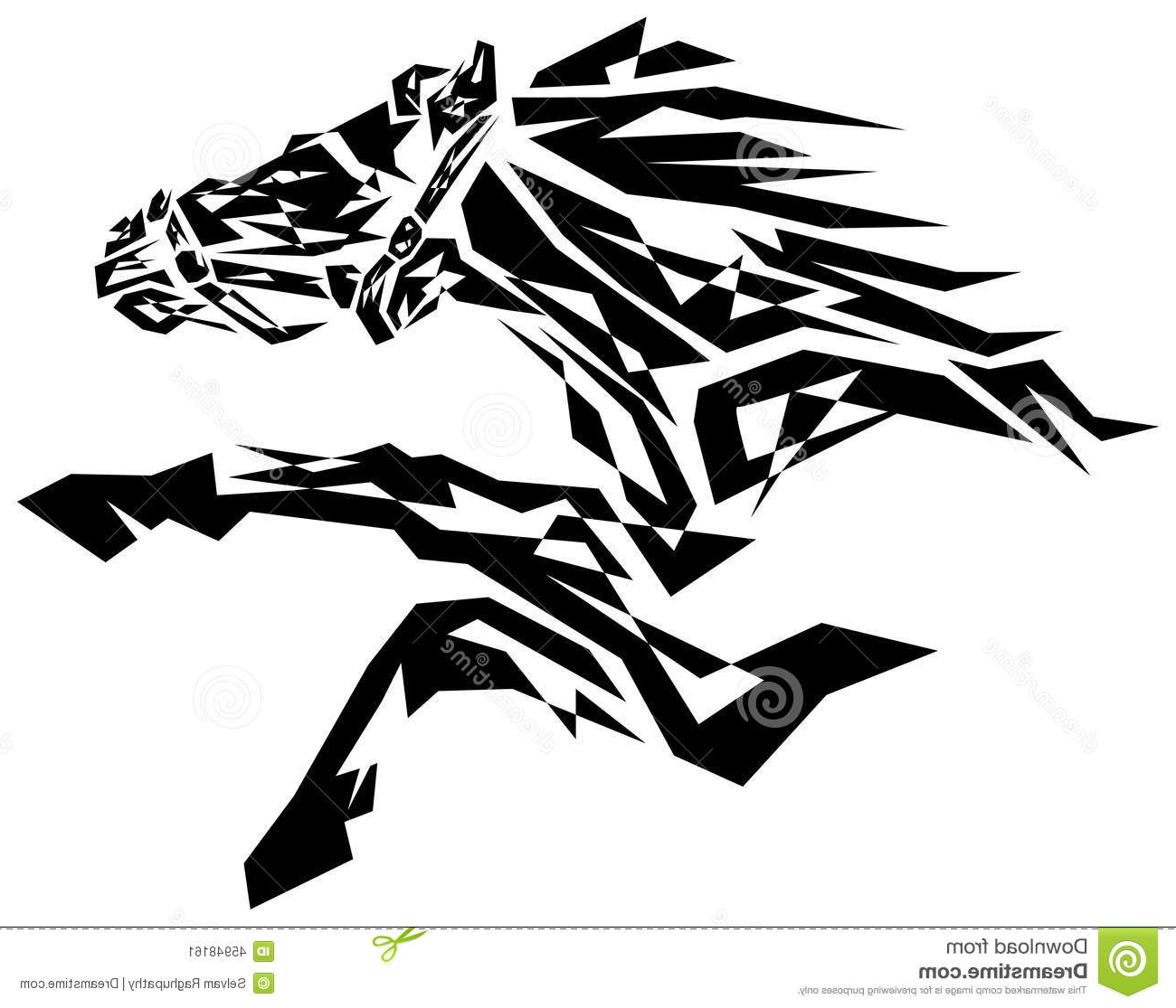 1300x1115 Black And White Horse Painting Black Horse Stock Vector