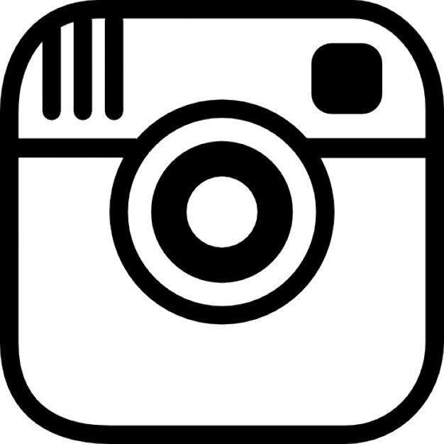 626x626 Instagram Logo Black And White Vector Free Design Templates