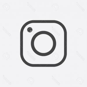 300x300 Photostock Vector Instagram Icon Hipster Camera Social Media