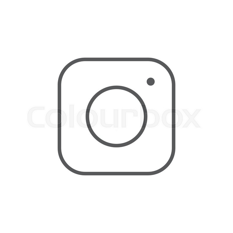 800x800 Social Media Icon, Instagram Icon, Instagram Vector Icon Stock