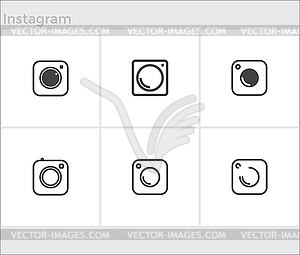 300x255 Social Media Icons Set, Photo Camera Instagram