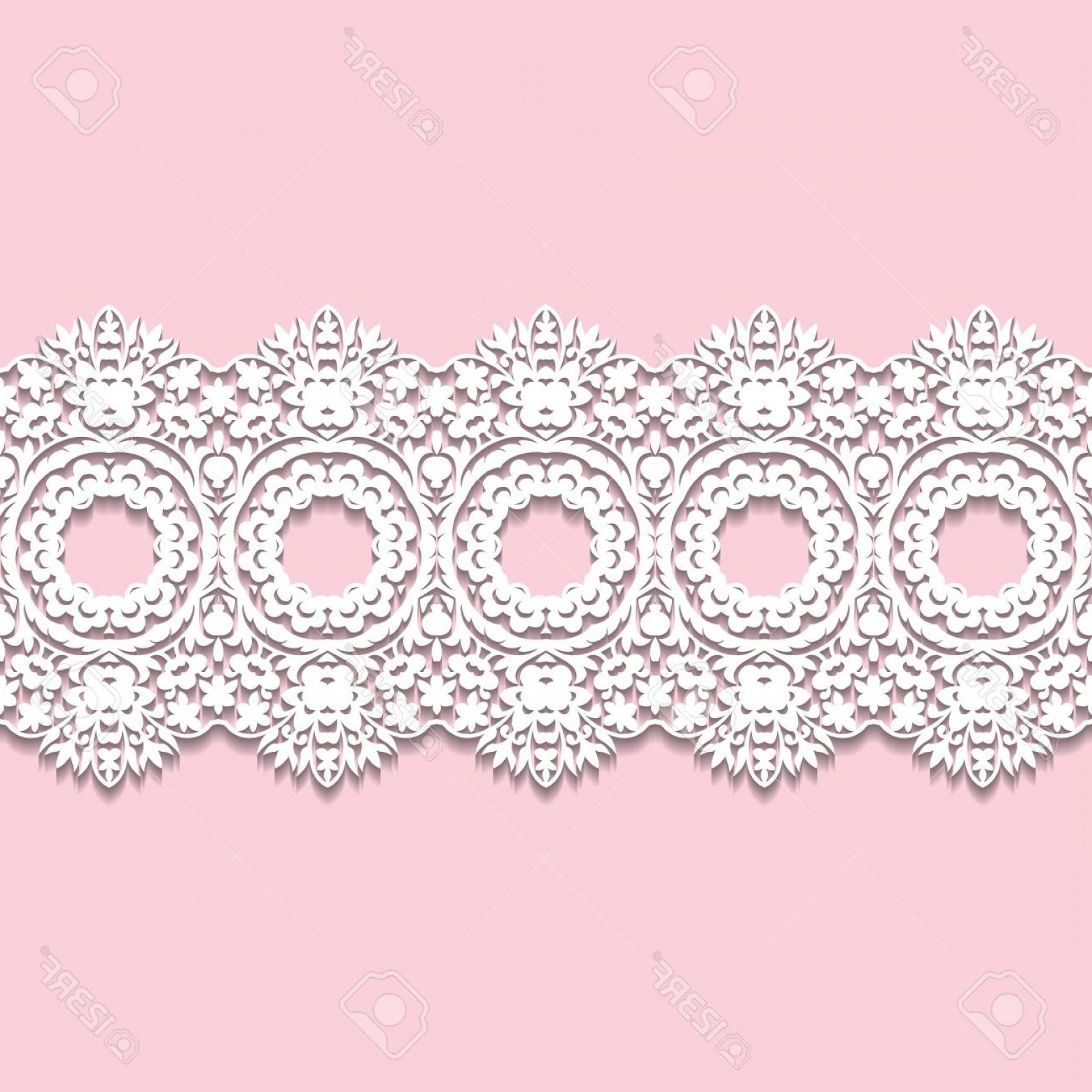 1560x1560 Photostock Vector White Lace Border With Shadow Ornamental Paper