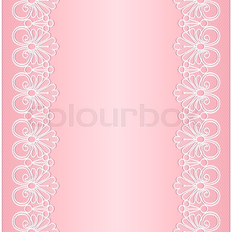 800x800 Template For Wedding, Invitation Or Greeting Card With White Lace