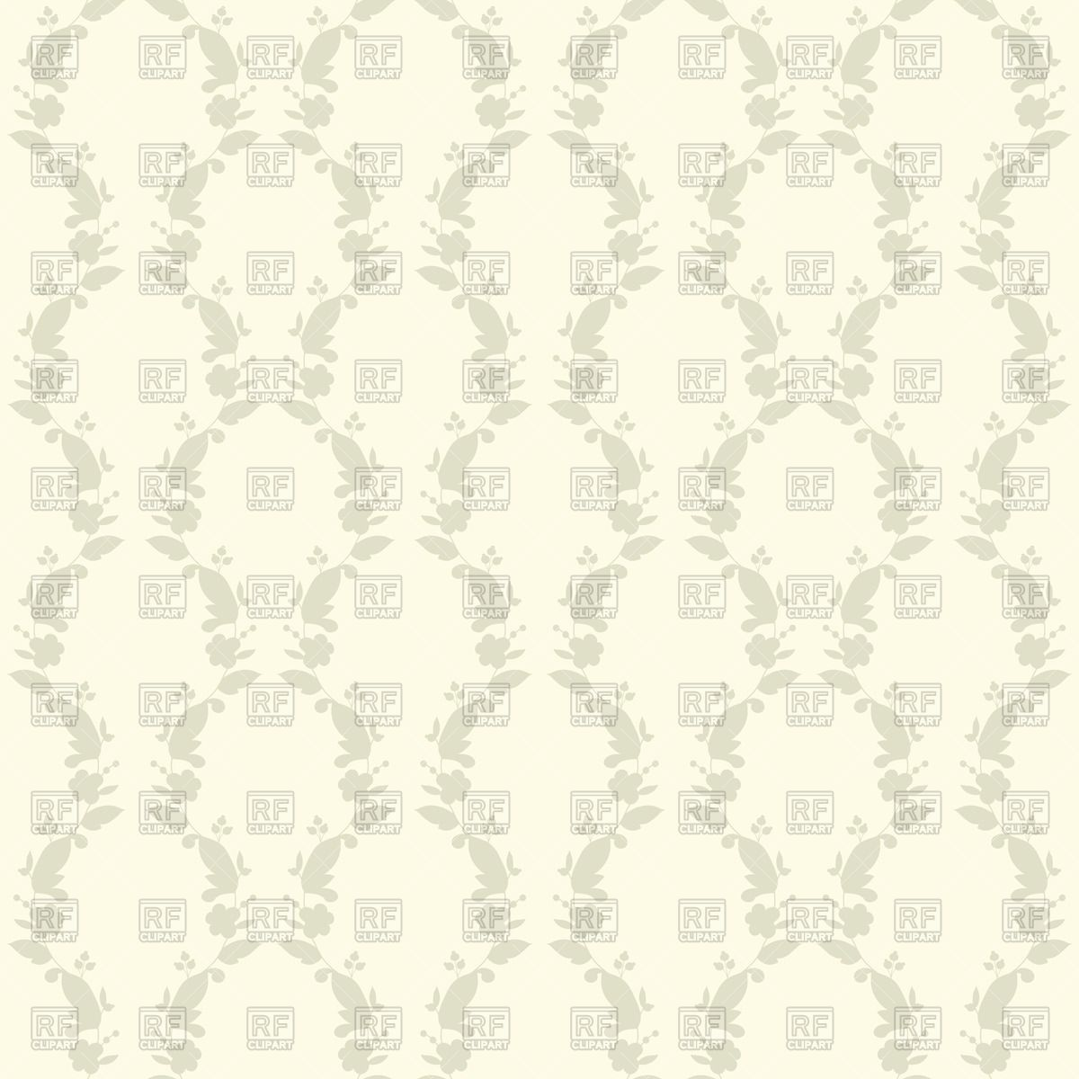 1200x1200 Floral Ornament On White Background