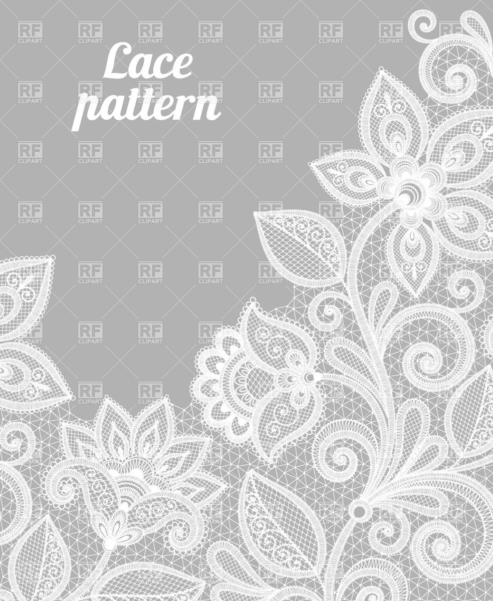 984x1200 Gray Pattern Made Of White Lace Flowers Vector Image Vector
