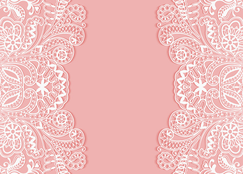 500x357 Pink Background With White Lace Vector Free Vector In Adobe