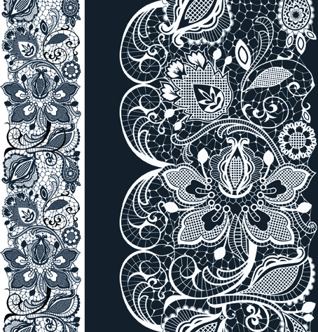 454x473 White Lace Elements Vector Free Vector In Encapsulated Postscript