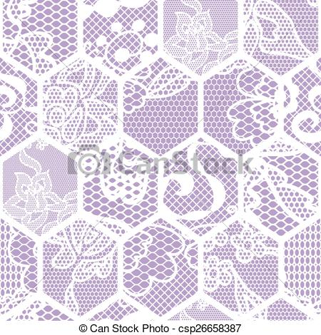 450x470 White Lace Vector Fabric Seamless Pattern.