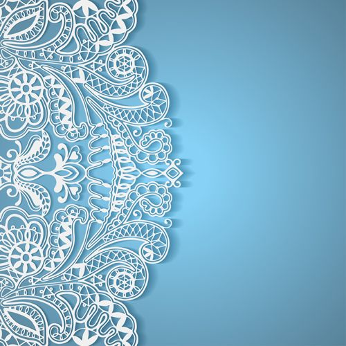 500x500 White Lace With Colored Background Vector Set 04 Fony