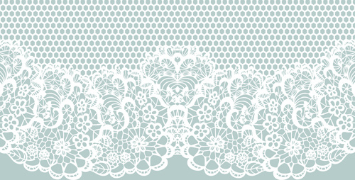 500x254 Elegant White Lace Vector Background Free Vector In Encapsulated