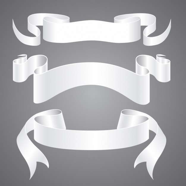 626x626 Ornamental White Ribbon Vector Free Download