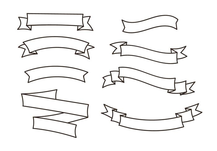 700x490 Ribbon Vectors Set
