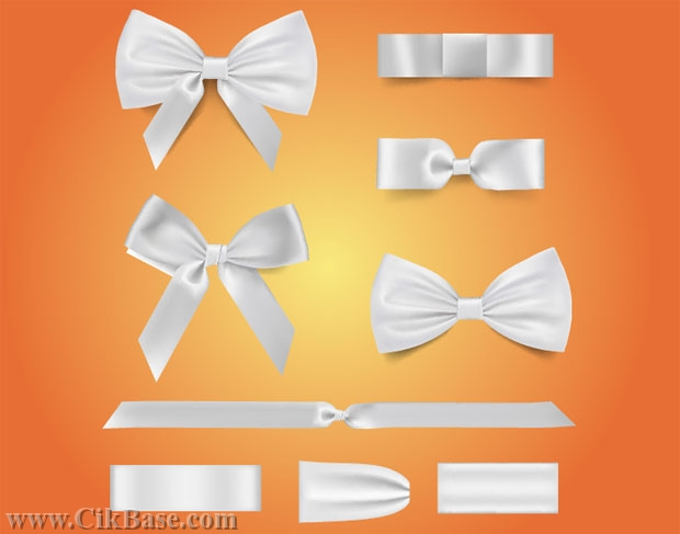 620x487 Vector White Bow Tie Ribbon Graphic Design Graphic Ai File