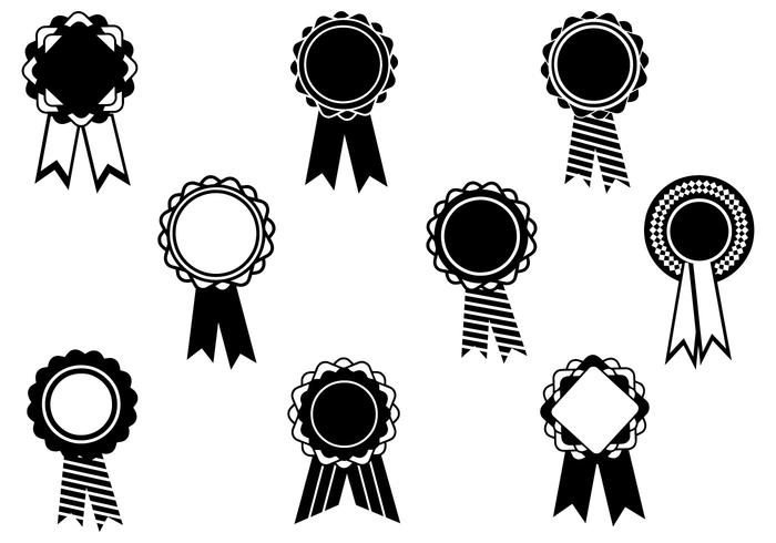 700x490 Black And White Award Ribbon Vector Pack