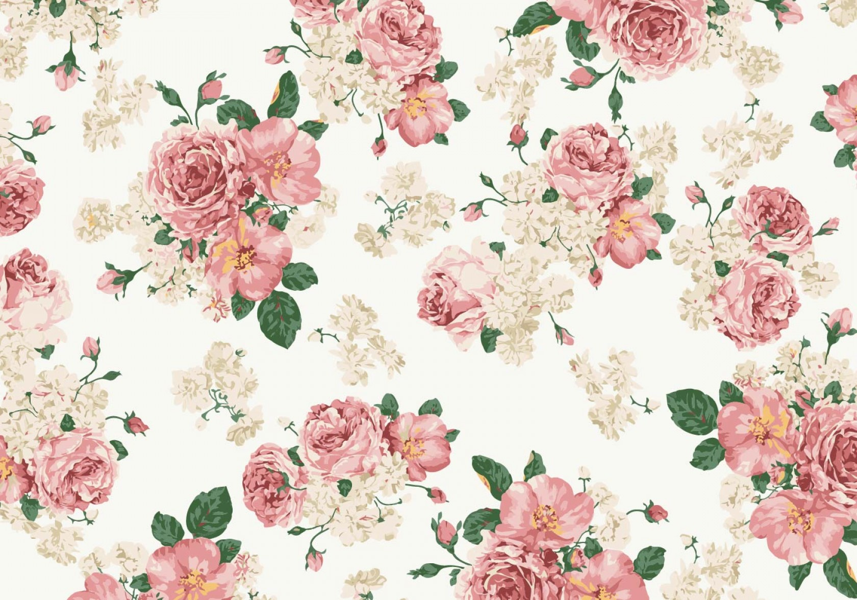 1680x1176 Vintage Pink And White Roses Vector Background Sohadacouri