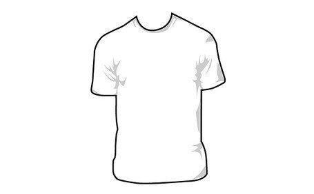 455x282 Free Short Sleeved T Shirt (T Shirt) Vector Case Material Clipart