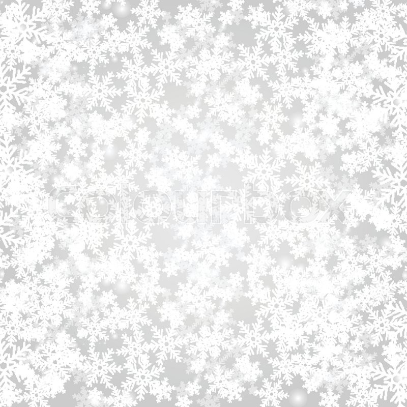 800x800 Abstract Grey Christmas Background With White Snowflakes. Vector