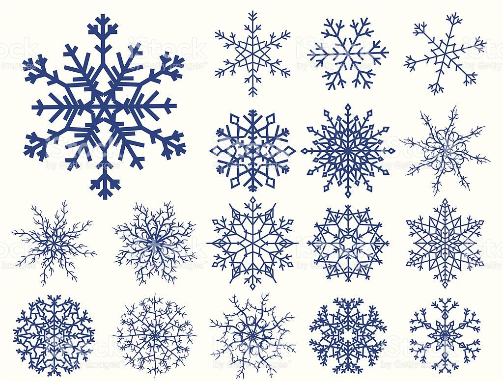 1024x778 Set Of Snowflakes Isolated On White Tezhip