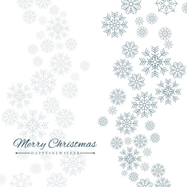 626x626 Simple White Background With Snowflakes Vector Free Download