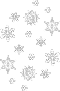 198x296 Snowflake Black And White Clip Art