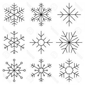300x300 Black And White Snowflake Clipart Sohadacouri