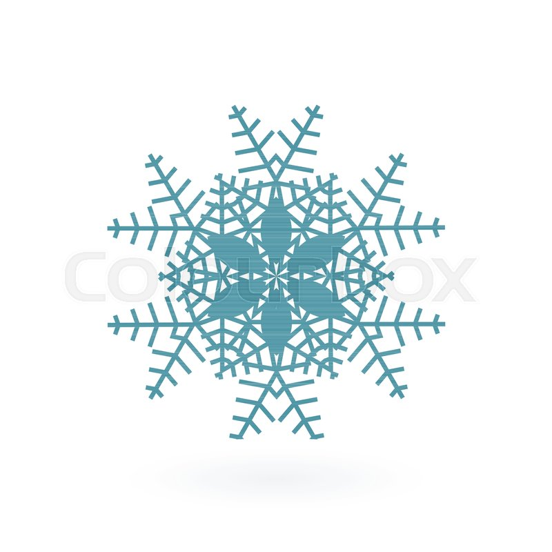 800x800 Snowflake Vector Icon Isolated On White. Simple Snow Logo. Winter