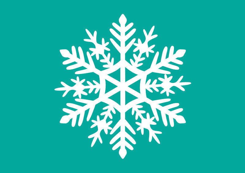 800x566 White Snowflake Vector Illustration