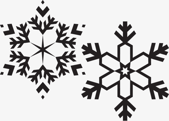 650x463 Black And White Snowflakes, Black Vector, Snowflake, Vector Png